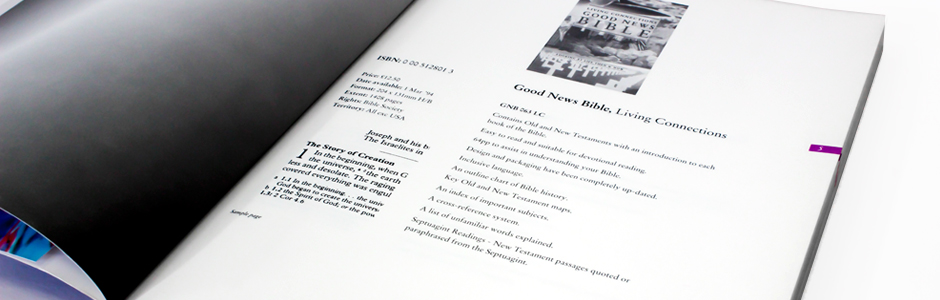 Harper Collins book catalogue
